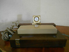 Vintage AT&T Touch-A-Matic 300 Executive Telephone Josten Clock Desk Top Wood