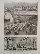 1914 GERMAN SHIPBUILDING KIEL ARMAMENTS FACTORY KRUPP WWI WW1