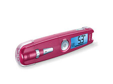 Beurer GL 50 Blood glucose meter shiny pink with 205 lancets and 205 test strips