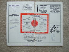 signed programme pages doncaster v newport county 24/8/63 4 auto's