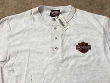 Harley Davidson bar and shield light gray henley Shirt NWT  Men's medium