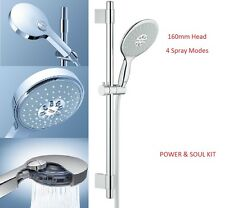 Grohe Power & Soul 160 Shower Riser Rail Kit 4 Mode Shower Head + Hose Set 27748
