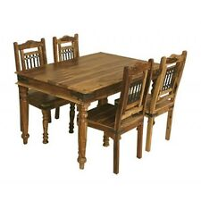 Brand New Jali- Indian Solid Sheesham Wood- 135cm DINING TABLE AND 4 CHAIRS
