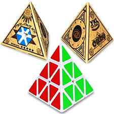 Cube Magic Puzzle Stickerless Pyramid Style Twist Speed Game Smooth Rubik Kid