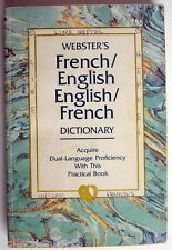 1981'S WEBSTER FRENCH / ENGLISH ENGLISH / FRENCH DICTIONARY