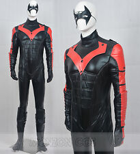 Batman Young Justice Nightwing Red Cosplay Costume For Men Full Set Full Size
