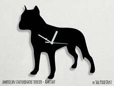 American Staffordshire Terrier Dog Silhouette - Wall Clock