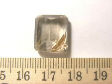 Rutilated quartz faceted gem gold rutile 15x13x9mm  Brazil 15.2 carats jo93