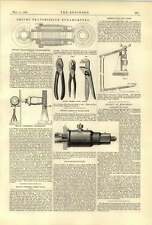 1888 Beck Gas Engine Smith Transmission Dynamometer Plant Green Button Fly Press