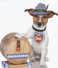 Klappkarte de luxe: Jack Russel - Terrier Chico als Bayer - Bavarian dog
