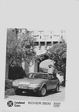 LEYLAND CARS ROVER 3500 'R' REGISTERED PRESS PHOTO 'BROCHURE CONNECTED'
