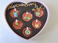 Juicy Couture vintage charm set with bracelet neiman marcus shirt candy cookie