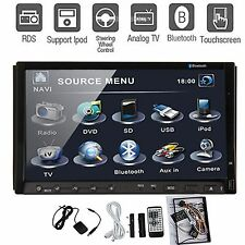 "Hitachi Head-Double Din 7"" Car Stereo Radio DVD Player Ipod Bluetooth TV Mi"