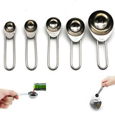 Kitchen Measuring Spoon Cup Tea Coffee Sugar Cook Stainless Steel Scoop Cookware