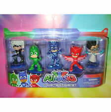 PJ MASKS 5 Action Figure Collectible Set CATBOY OWLETTE GEKKO ROMEO & LUNA GIRL