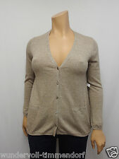 360€ NEU NICE CONNECTION NC Strickjacke Gr.42 Kaschmir Leinen Beige 789