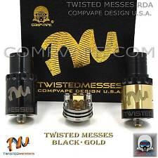 TWISTED MESSES RDA BLACK GOLD EDITION - 100% AUTHENTIC COMPVAPE - 24K GOLD RING