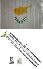 3x5 Cyprus Flag Aluminum Pole Kit Set 3'x5'