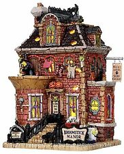Lemax 15197 BROOMSTICK MANOR Spooky Town Building Retired Halloween Decor S O I