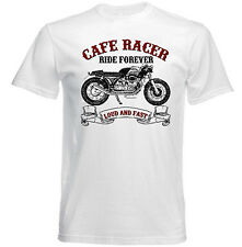 VINTAGE ITALIAN MOTORCYCLE MOTO GUZZI CAFE RACER SP 1000 - NEW COTTON T-SHIRT