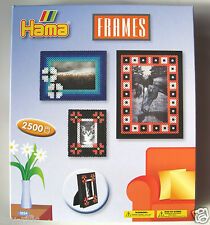 HAMA MIDI BEADS 3234 - MAKE PICTURE FRAMES - CONTAINS 2500 BEADS - BRAND NEW