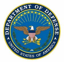 DEPARTMENT OF DEFENSE DOD STICKER WINDOW  DECAL MADE IN USA