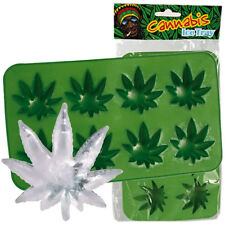 CANNABIS WEED MARIJUANA LEAF SHAPE ICE CUBE MAKER TRAY MOULD MOLD SILICONE DRINK