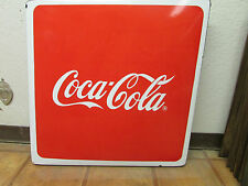 Coca Cola Metal Table Porcelain Top-Mexican-Restaurant Bar-Cafe-Coke-Great Shape