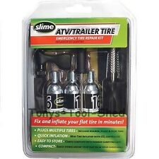 CO2 Flat Tire Repair Kit ATV Trailer Quick Inflator Plug Motorcycle Scooter