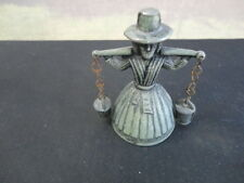 Antique/Vintage Welsh Milkmaid  Metal Dinner bell