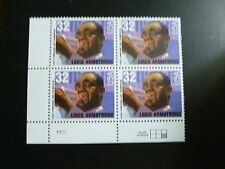 United States Scott 2982, the 1995 32c Louis B. Armstrong Plate Block of 4