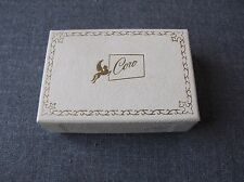 VINTAGE CORO PEGASUS LINED IN PAPER CARDBOARD EARRINGS BOX