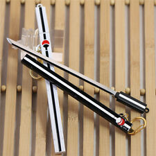 H/Q Cos Naruto Sasuke Grass Pheasant Sword Arms Black And White Keychain Prop