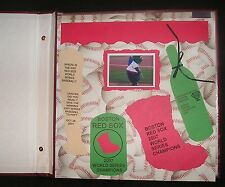 Boston Red Sox Collectible 32 Home Made 2007 World Series Scrapbook Album One