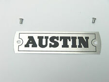 Classic Mini Austin Cooper Rocker Cover Alloy AUSTIN Plate Plaque with rivets