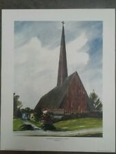 """Westminister Presbyterian Church Print by Richard Lewis 16"""" by 20"""""""