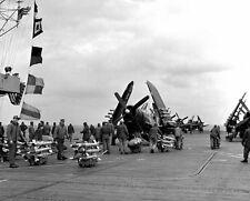 """Marine Corps Vought F4U-4B Corsair USS Badoeng Strait  8""""x10"""" Korean War Photo 7"""