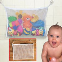 Hot Baby Kid Bath Toy Tidy Bag Net Mesh Storage Suction Bathroom Stuff Organiser