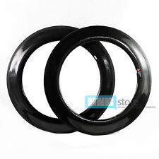 Full Carbon Fiber Road RD Bike Rims Wheels Wheelset 88mm Tubular 3K Gloss Pair