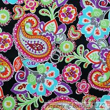 BonEful Fabric FQ Cotton Corduroy Quilt Black Pink B&W Flower Paisley Lace Girl