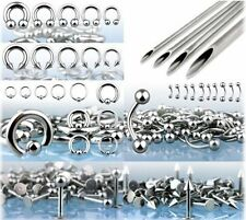 400pcs PRO Body Piercing Jewelry Starter Kit 14G 16G FREE Needle Wholesale Ear