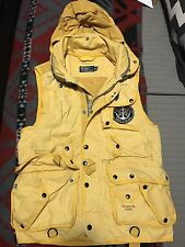 Vintage Polo Ralph Lauren Yellow Nautical Vest With Patch Medium M
