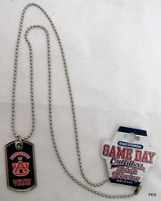 Auburn Tigers Dog Tag and Necklace Blue Property of AU Tiger War Eagle Football