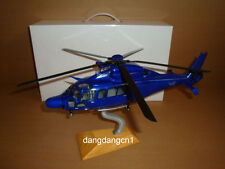 1:43 China ShangHhai Police Helicopter blue color