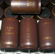 2PCS ELNA 3300UF/50V RFS SILMIC II High-END HIFI Audio Capacitor MADE IN JAPAN