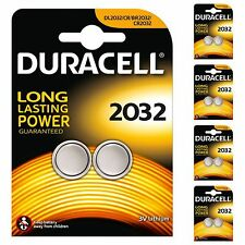10 x Duracell CR2032 DL2032 2032 Coin Cell Batteries 3V Lithium 5 TWIN PACKS