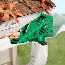 Leaf Clog Strainer Downspout Gutter Wedge Screen Prevents Roof Debris Blockage