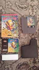 The Simpsons Bart vs the World Nintendo NES 1991 CIB Complete Cleaned Tested