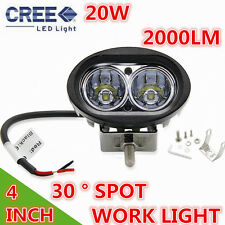 2000LM 20W Cree LED Work Light Spot Lamp Driving Fog ATV Motorcycle 4WD Boat UTV