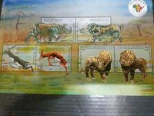 3RD INDIA- AFRICA FORUM SUMMIT EMBOSSED MINIATURE SHEET MNH